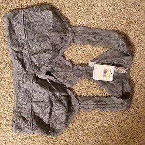 Free people gray large bra